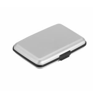 BRONI. Porte-cartes en aluminium