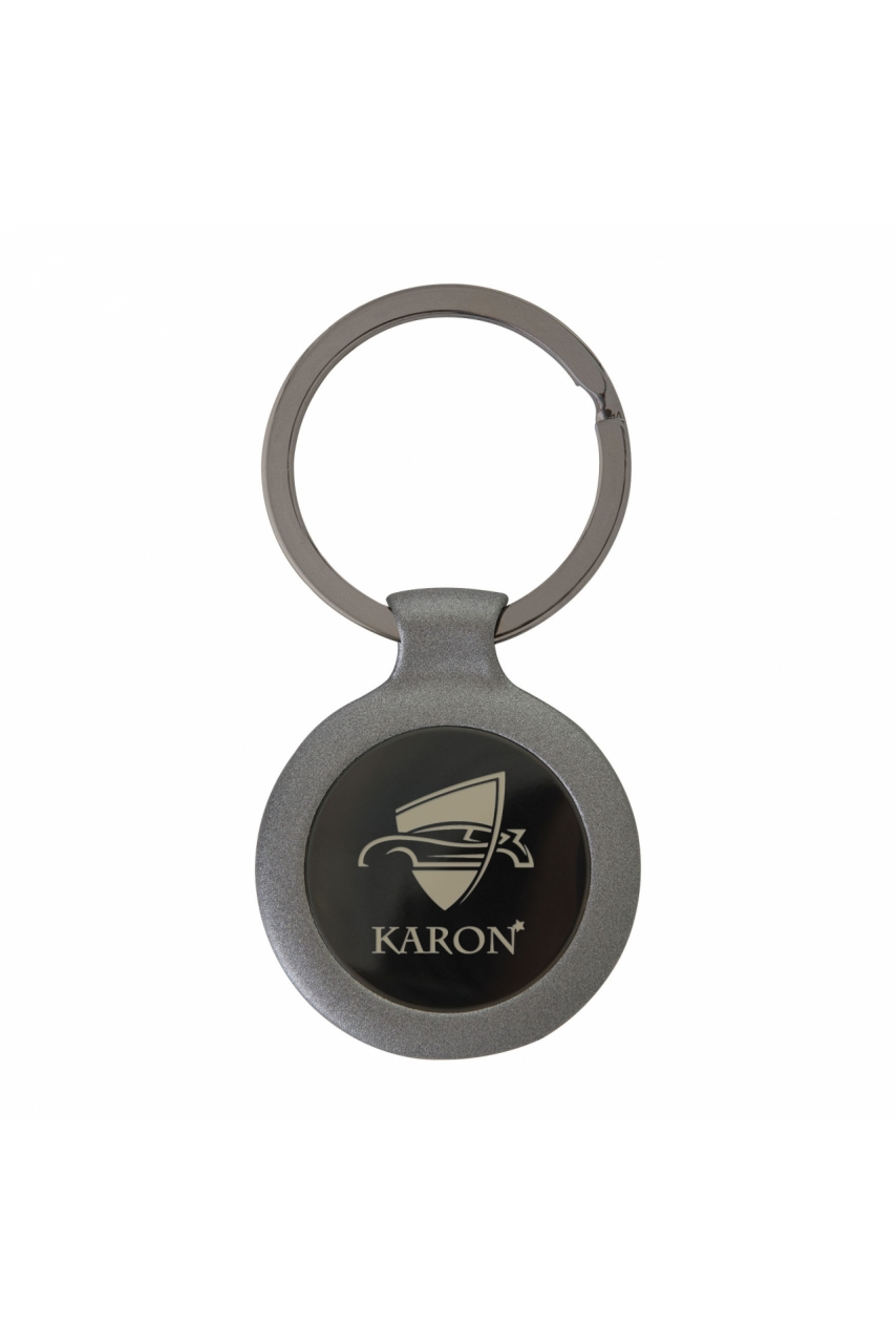 PORTE-CLES ROND ANTHRACITE