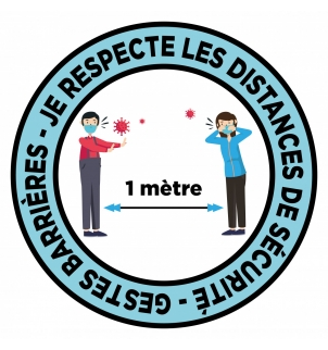 STICKER PROTECTION DISTANCIATION 1 MÈTRE