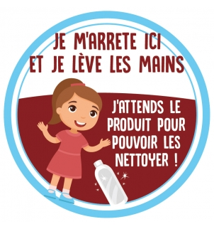STICKER PROTECTION KID LAVAGE DES MAINS