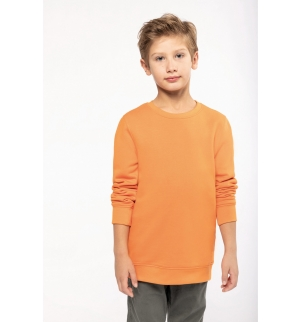 Sweat-shirt écoresponsable col rond enfant