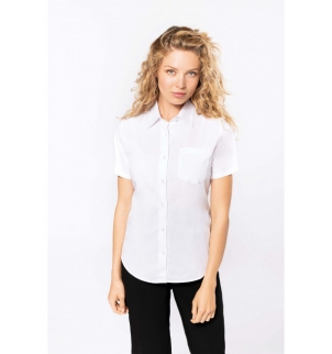 CHEMISE POPELINE MANCHES COURTES FEMME