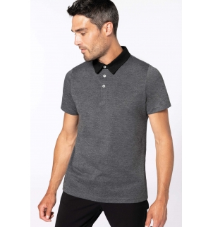Polo jersey bicolore homme