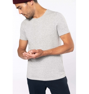 T-shirt col rond manches courtes homme