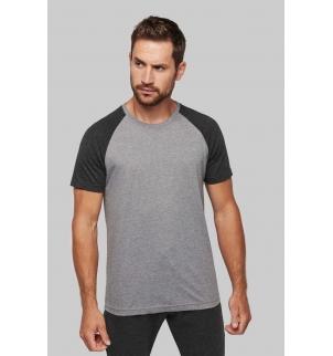 T-shirt triblend bicolore sport manches courtes adulte