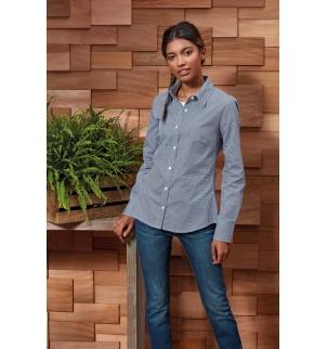 Chemise femme micro carreaux