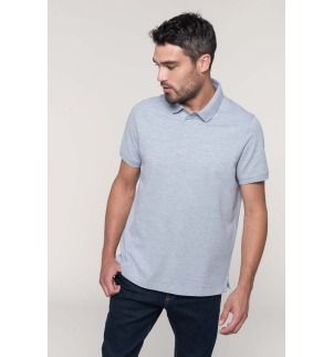 Polo col boutons pression manches courtes homme
