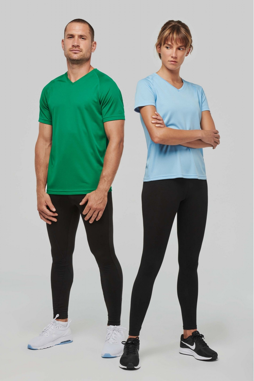 T-shirt de sport manches courtes col v homme