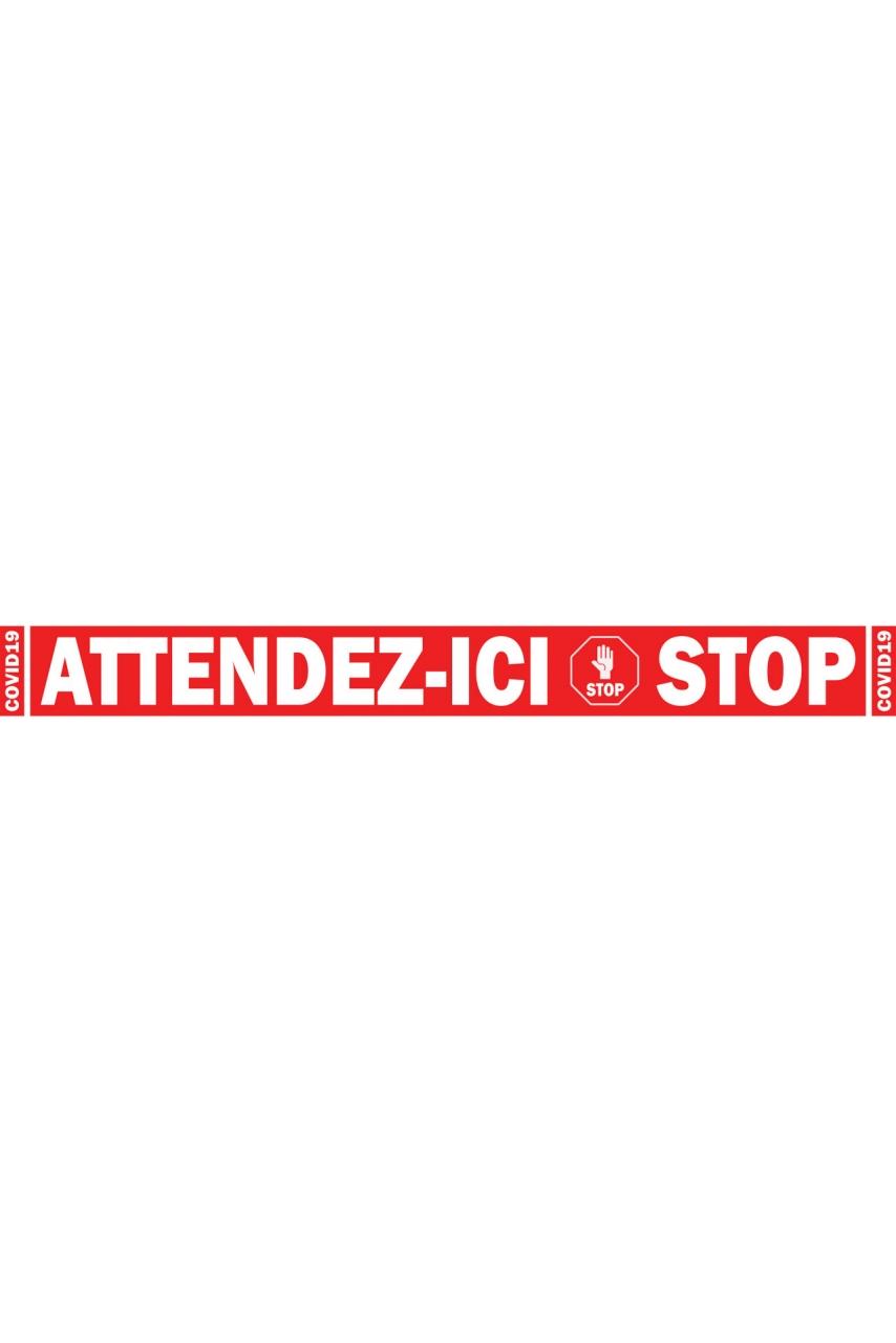 STICKER PROTECTION COLLABORATEURS & CLIENTS HORIZONTAL ROUGE