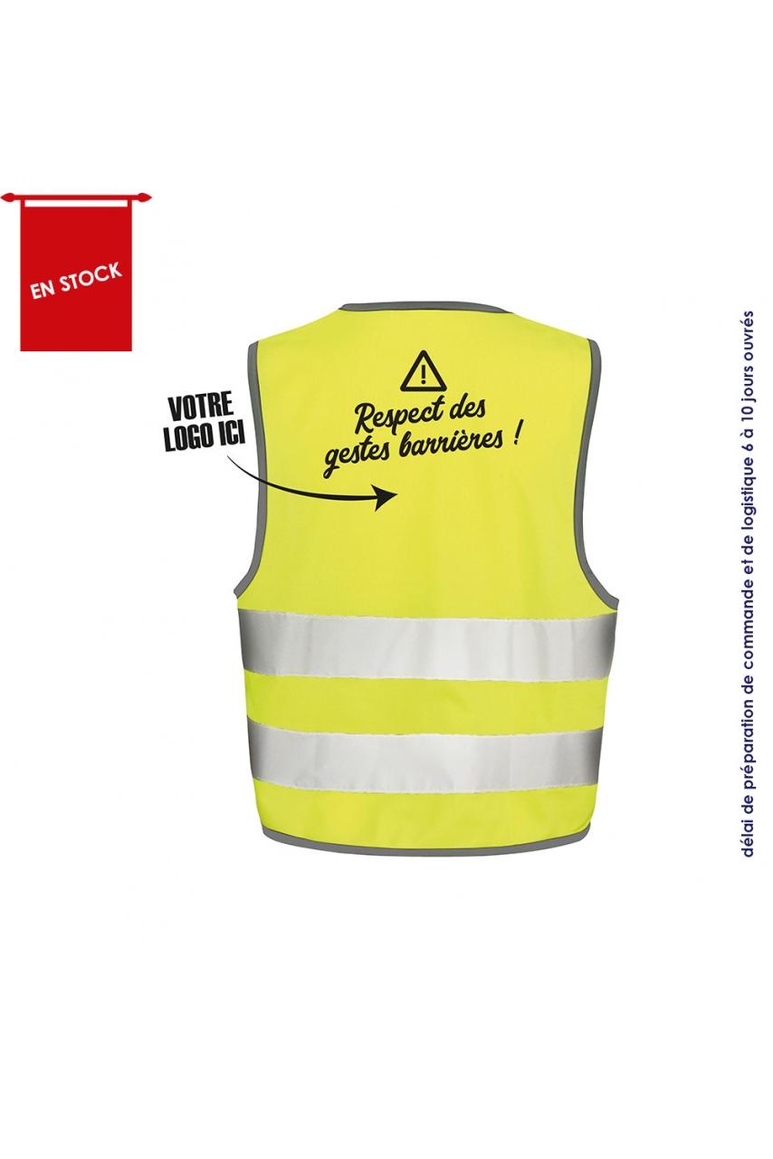GILET SECURITE RESPECT DES GESTES BARRIERES