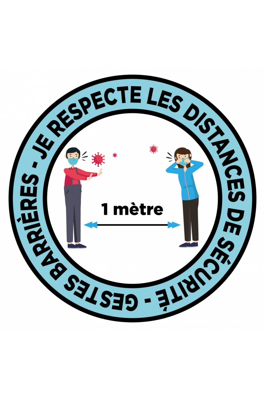 STICKER PROTECTION DISTANCIATION 1 MÈTRE
