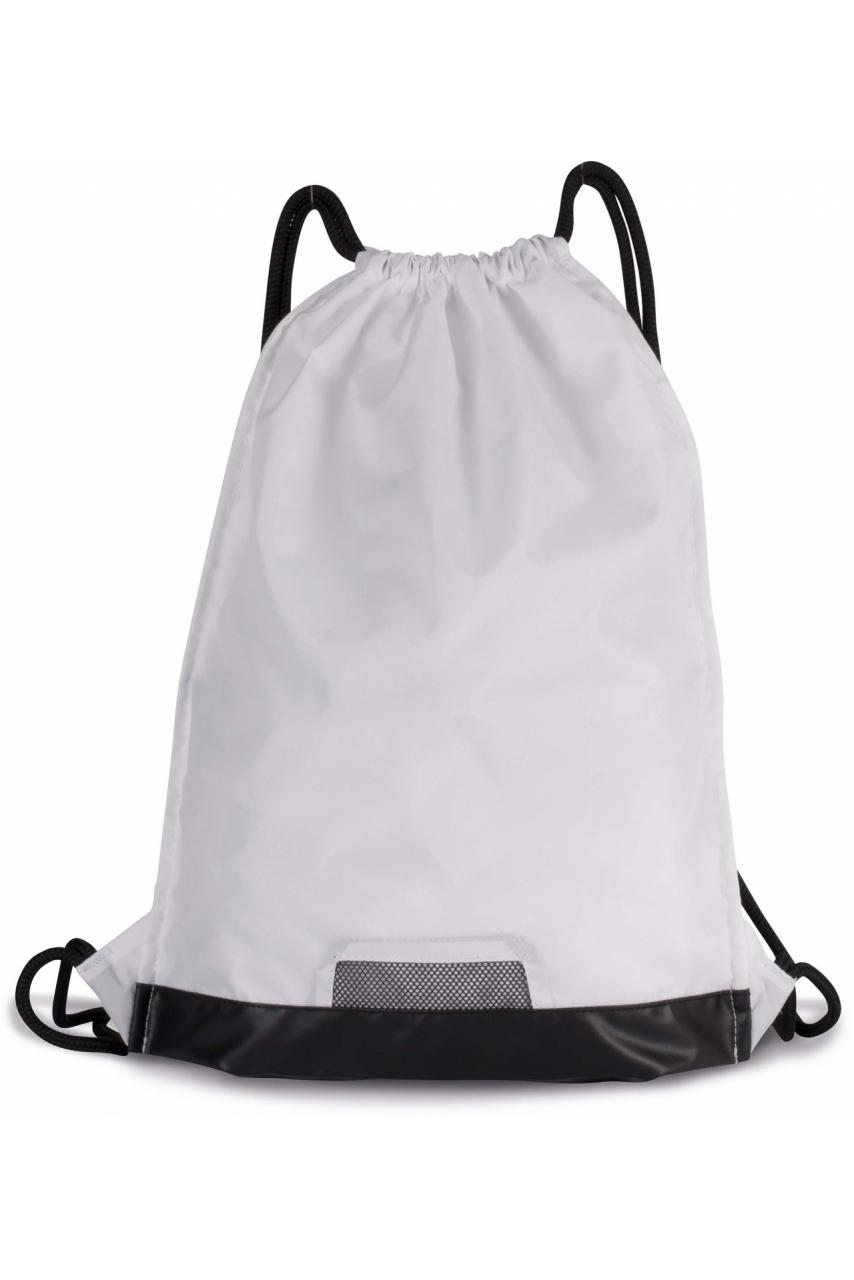 Sac à dos avec cordelettes et poche zippée
