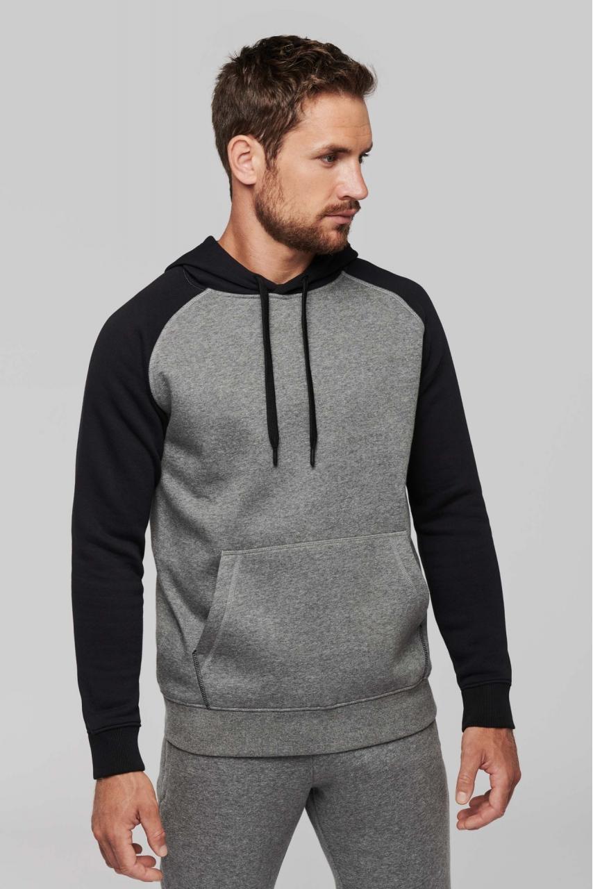 Sweat-shirt capuche bicolore adulte